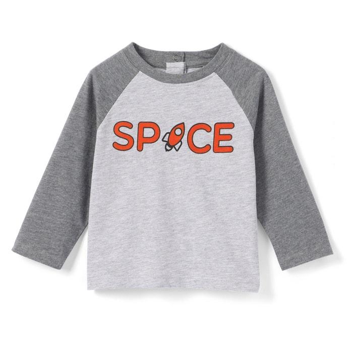 T-shirt a maniche lunghe bi-colore da 1 mese a 3 anni  La Redoute Collections image 0