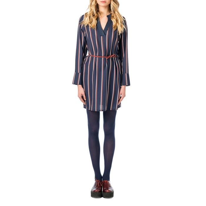 Striped Short Dress  BEST MOUNTAIN image 0