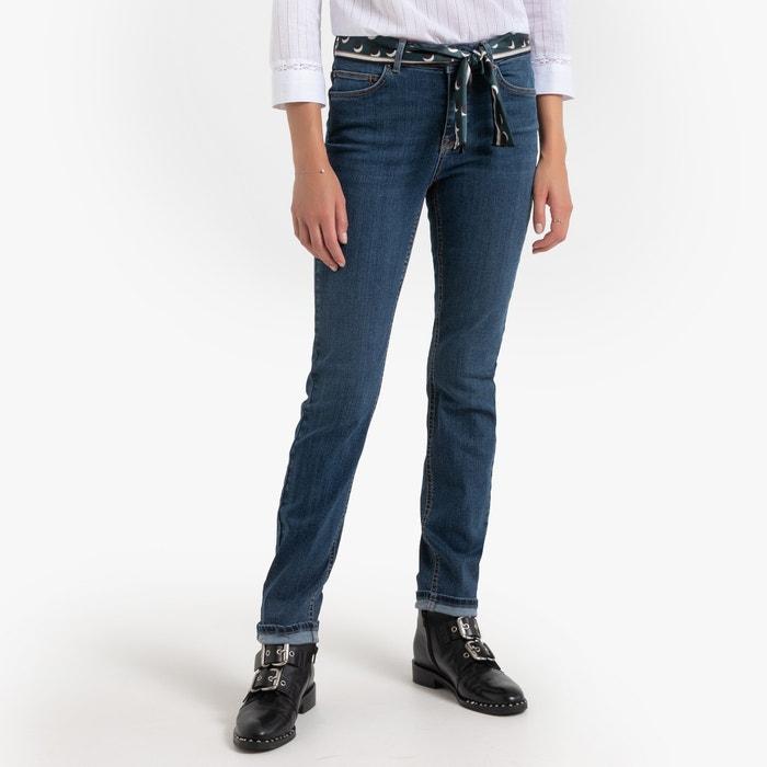 Jeans slim con cintura in tessuto, L30