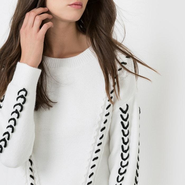 BRACKEN tono contraste motivos redondo aterciopelado a de con pelo y cuello en Jersey MOLLY dnxP4fO1d