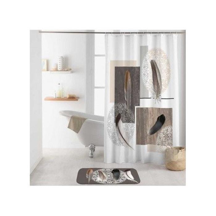 rideau de douche plume chic blanc home bain la redoute. Black Bedroom Furniture Sets. Home Design Ideas