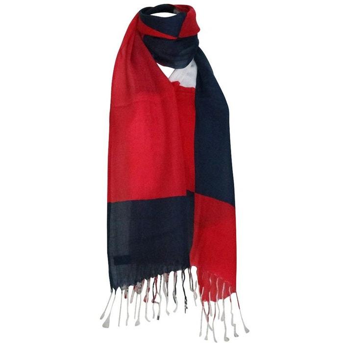 Echarpe et e bleu et rouge Chapeau-Tendance   La Redoute 02582a6956a