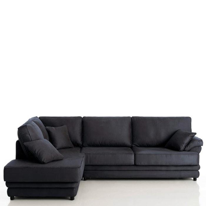 afbeelding Hoekcanapé, vast model, superieur comfort, microvezel, Newcastle La Redoute Interieurs