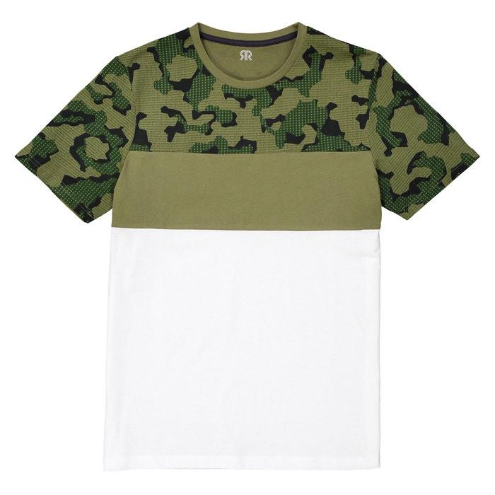 T-shirt de gola redonda, estampada, Slub  La Redoute Collections image 0