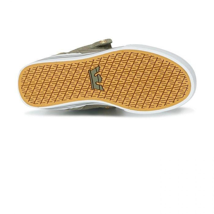 Chaussures vaider olive/white vert Supra