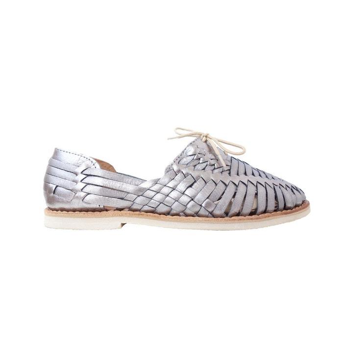 Chaussure plate en cuir tressé  Mapache  La Redoute