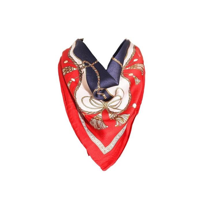 Foulard motif rouge avec sa pochette cadeau multicolore Versace 19.69   La  Redoute 295c32368b6