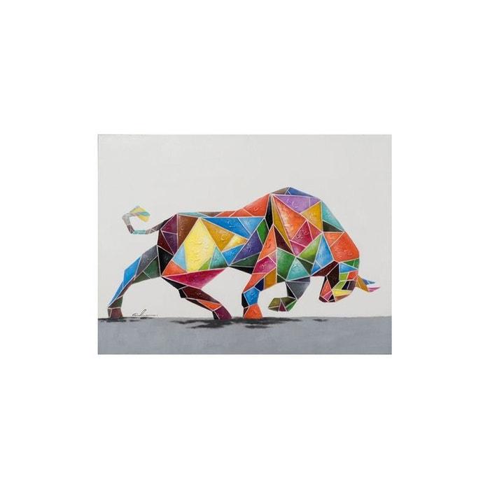 simple pier import tableau animal popart taureau qui charge multicolore xcm la redoute with. Black Bedroom Furniture Sets. Home Design Ideas