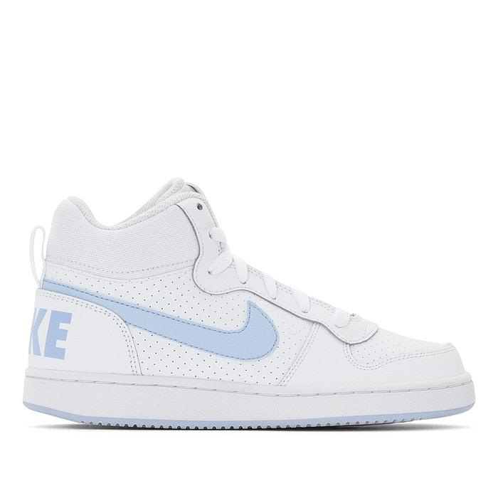 5bc9d114b9fbd Baskets montantes court borough mid (gs) Nike blanc