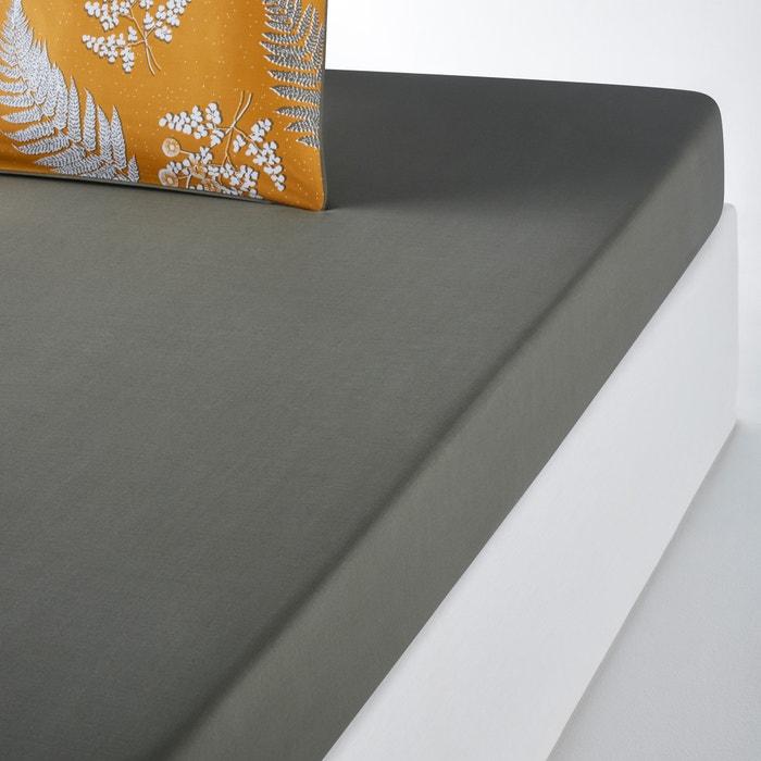 Lenzuolo con angoli tinta unita in percalle di cotone FOUGÈRE  La Redoute Interieurs image 0