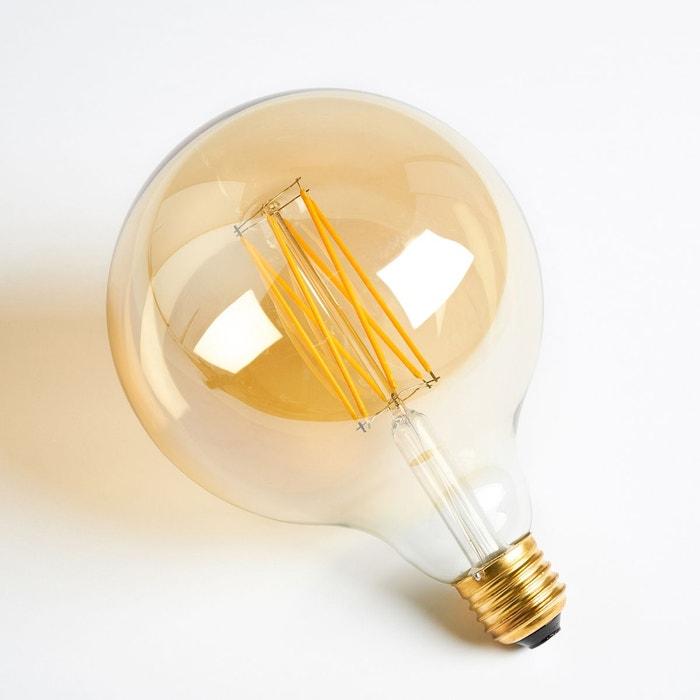 Ampoule Led Décorative Gros Culot Ø12,5Xh14 Cm Transparent Fumé