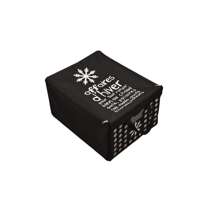 Boite tissu t3 hiver noir noir incidence la redoute for La redoute boite a couture