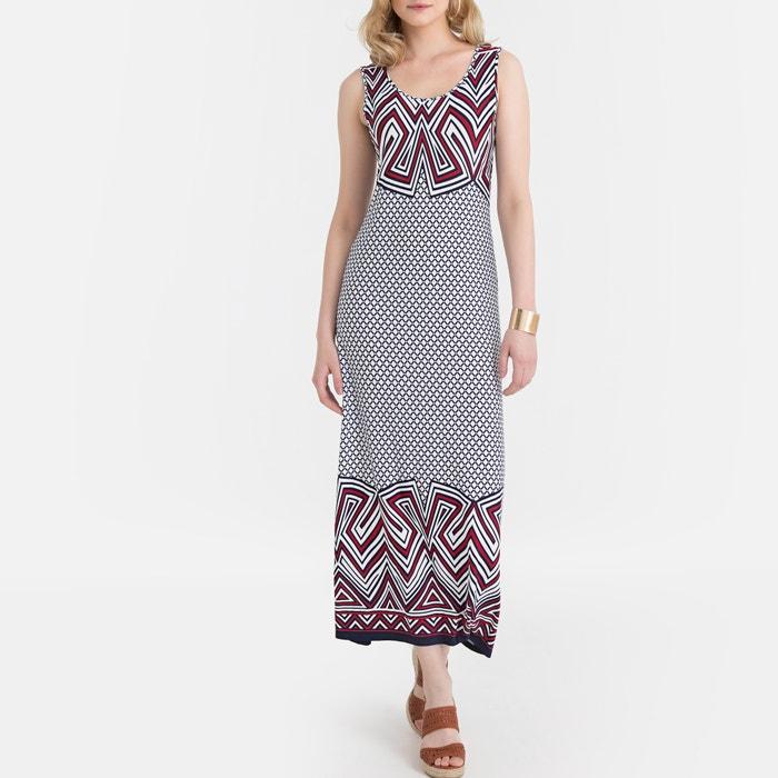 6a94e88bdcc7c1 Lange rechte jurk met grafische print bedrukt Anne Weyburn