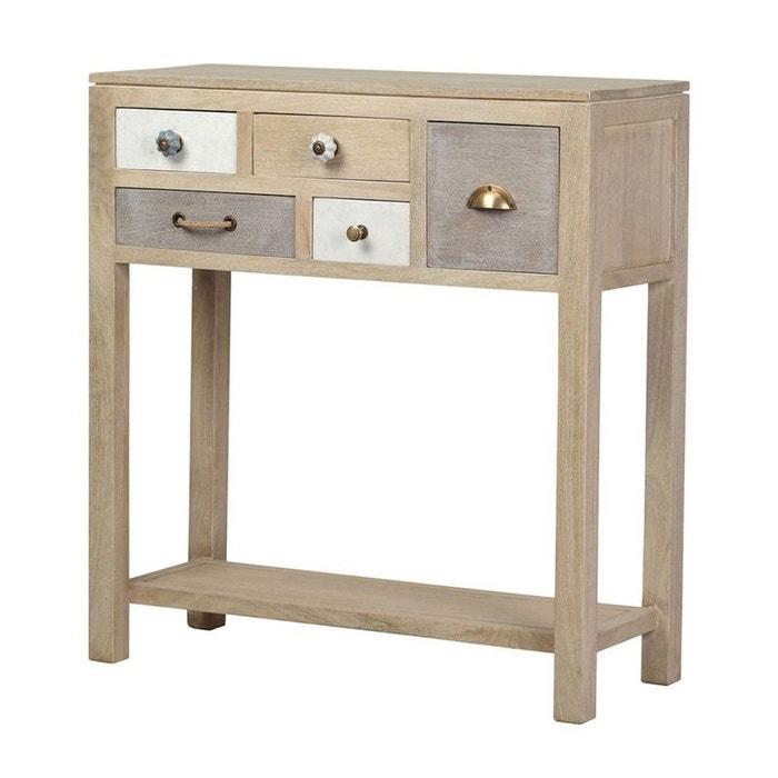 console bois massif patchwork 5 tiroirs evasion patchwork de bois clair pier import la redoute. Black Bedroom Furniture Sets. Home Design Ideas