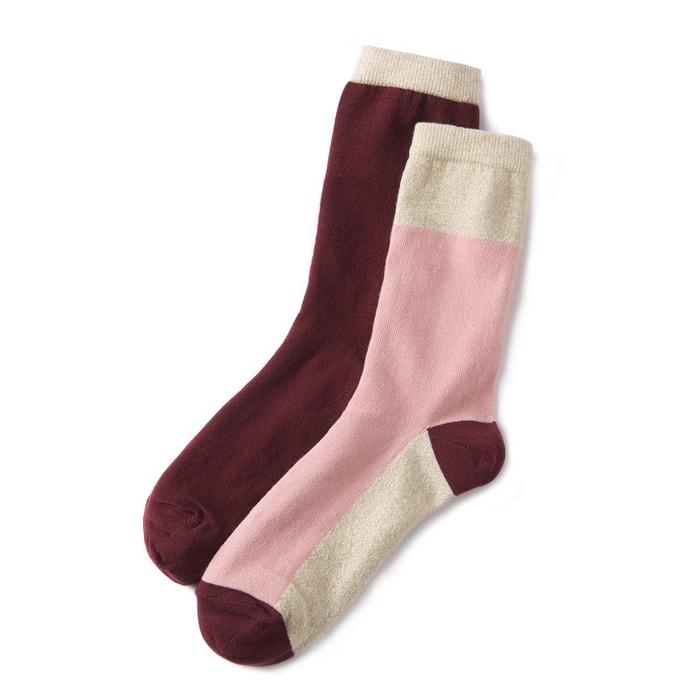Mi-chaussettes fantaisie (lot de 2)  La Redoute Collections image 0