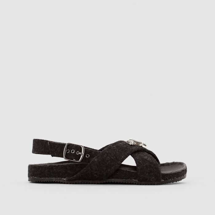 Sandales feutrine détail bijou R studio