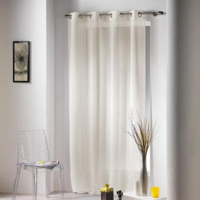 voilage oeillets tiss java 2 naturel douceur d interieur la redoute. Black Bedroom Furniture Sets. Home Design Ideas