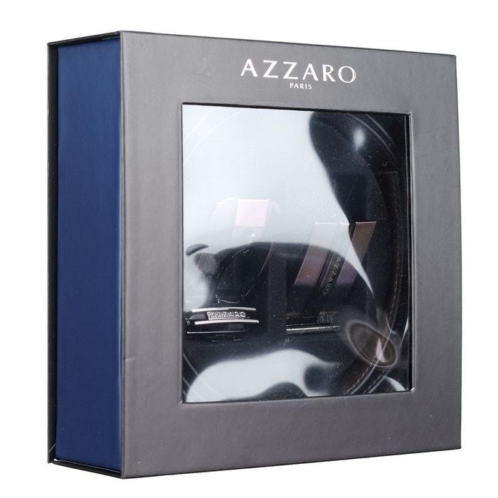 Ceinture ardillon et plaque noir marron Azzaro   La Redoute 8ef4fd25750