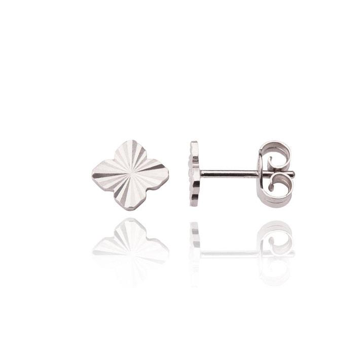 Puces d'oreilles motif trèfle en or blanc blanc Bijoux Prives Discovery   La Redoute Commercialisable À Vendre vraiment Vente Manchester Coût SiKcHh