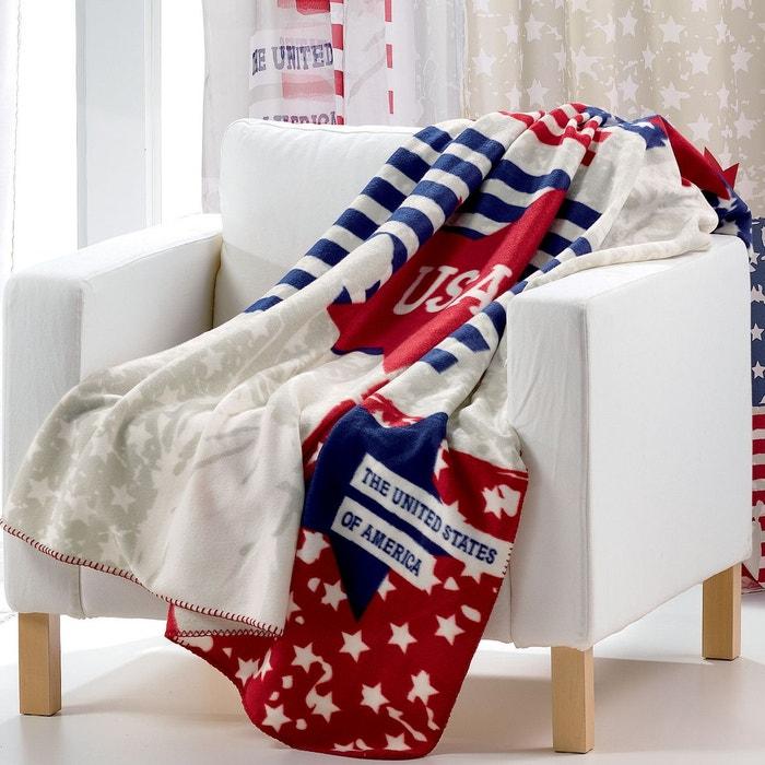plaid polaire america imprime les ateliers du linge la redoute. Black Bedroom Furniture Sets. Home Design Ideas