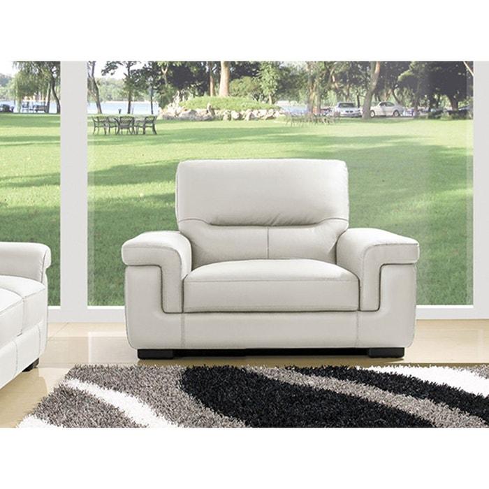 fauteuil cuir sandy blanc la maison du canape la redoute. Black Bedroom Furniture Sets. Home Design Ideas