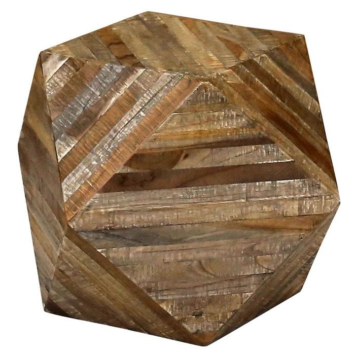 tabouret g om trique en teck woody marron zago la redoute. Black Bedroom Furniture Sets. Home Design Ideas