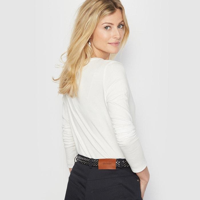 ANNE con lisa manga WEYBURN Camiseta redondo larga cuello qrAxqgwt