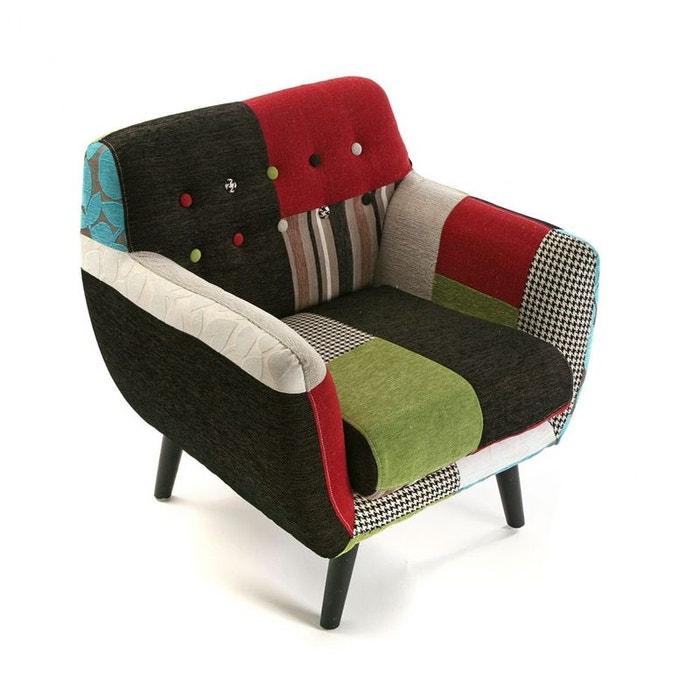 fauteuil club en tissu patchwork color eider multicolore. Black Bedroom Furniture Sets. Home Design Ideas