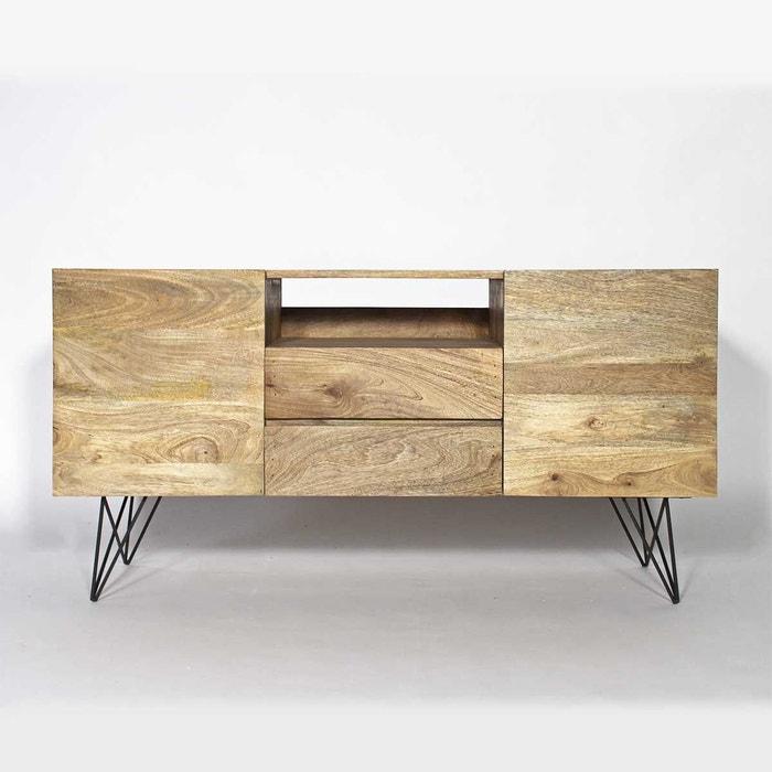 buffet industriel en bois de manguier baltiq bt0530s naturel made in meubles la redoute. Black Bedroom Furniture Sets. Home Design Ideas