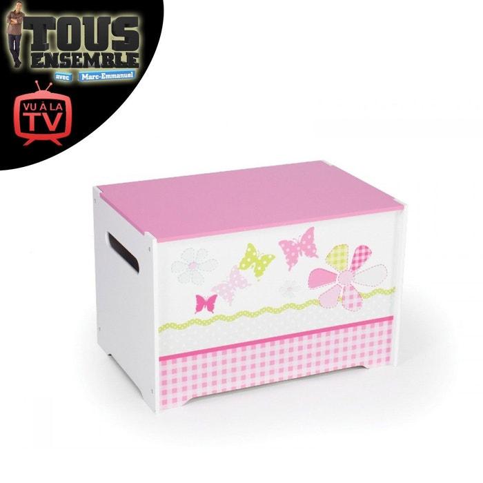 coffre jouets fille en bois rose character world la redoute. Black Bedroom Furniture Sets. Home Design Ideas
