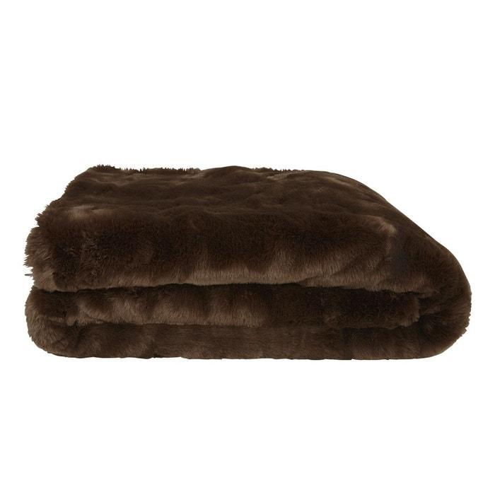 plaid vison marron olivier desforges la redoute. Black Bedroom Furniture Sets. Home Design Ideas