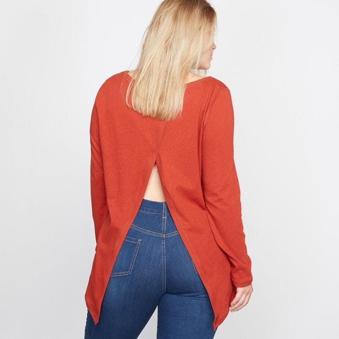 Image T-shirt con dorso fantasia lino e cotone CASTALUNA
