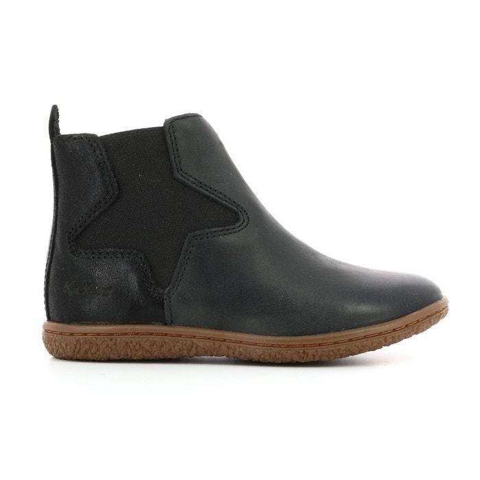 4df9f0c04e06d Boots cuir vermillon noir Kickers
