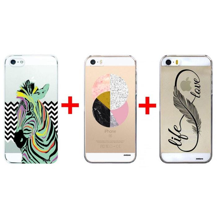 lot de 3 coque iphone 5