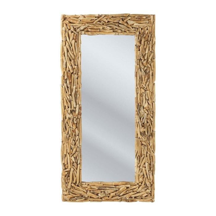 Miroir twig 160x80 cm kare design bois clair kare design for Miroir 80x80