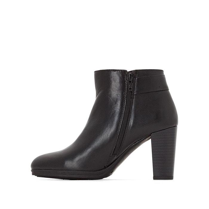 Boots cuir noir Anne Weyburn