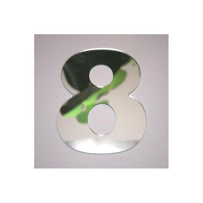 Miroir 8 argent en verre teri h 8 cm couleur unique for Miroir tendance