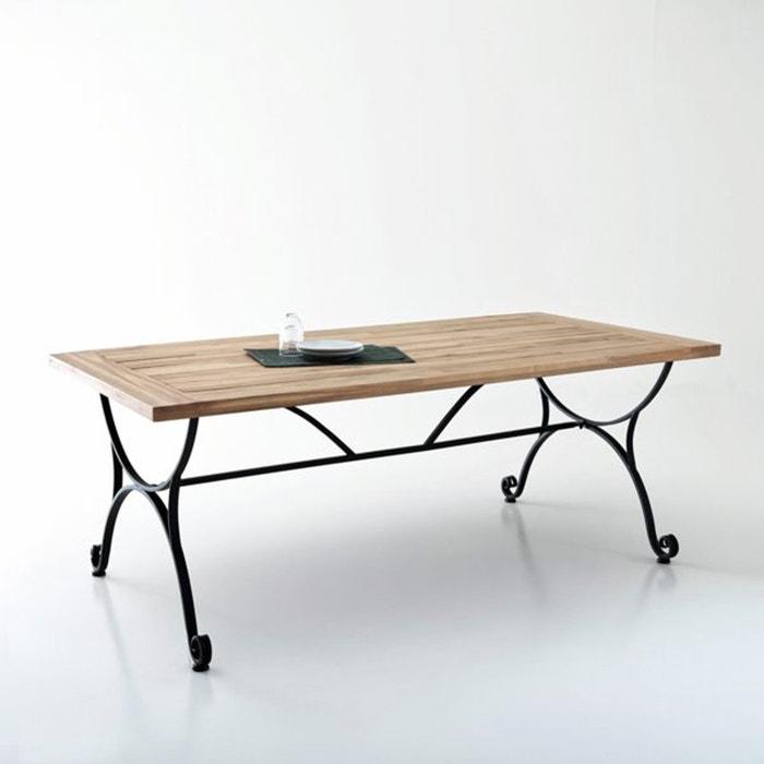 Table de jardin acacia et fer forg f r ol la redoute for Table jardin la redoute