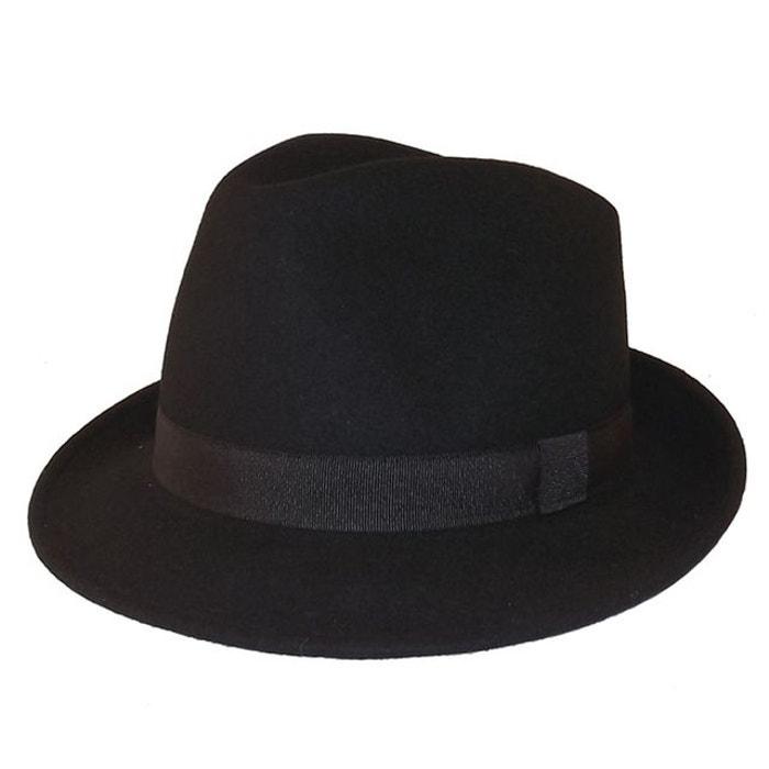 Chapeau trilby noir maccorse noire Chapeau Paiement Visa Prix Pas Cher En Vente En Ligne Indemnité De Vente Pas Cher Avec Visa gDhC8d