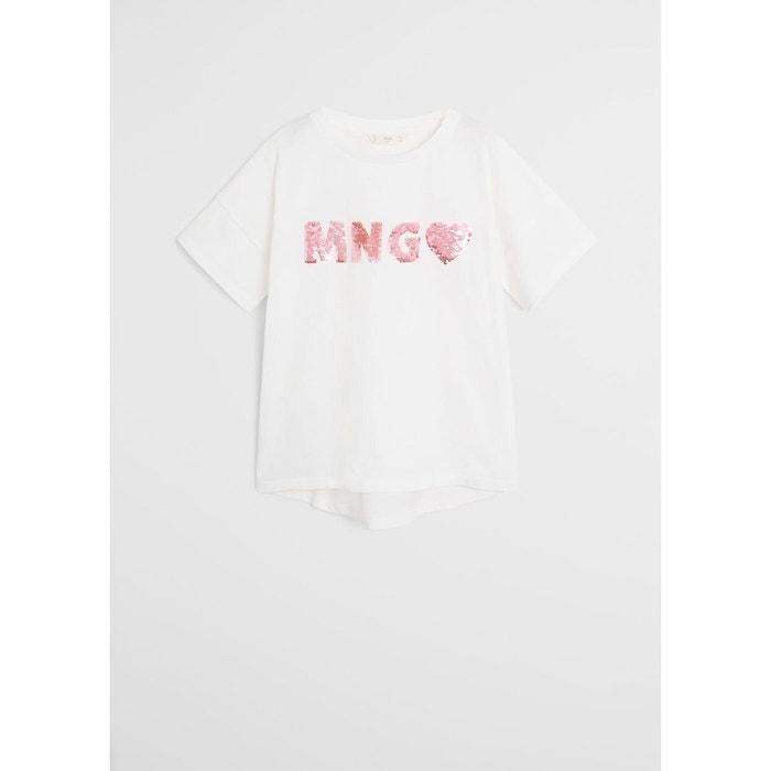 T shirt logo sequins réversibles