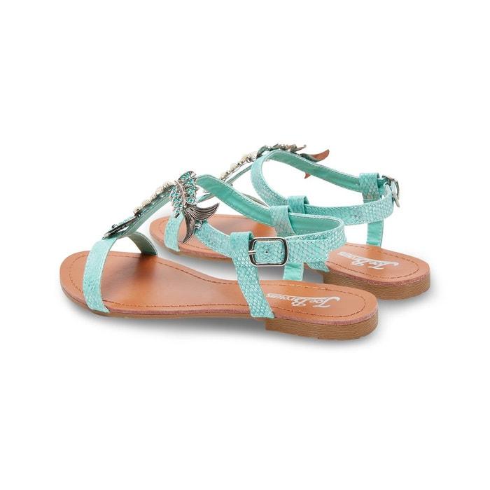 Sandales plates de style salomés avec poisson en strass joe browns femme vert Joe Browns