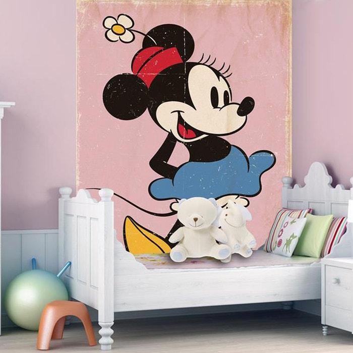 papier peint g ant minnie mouse vintage disney noir walltastic la redoute. Black Bedroom Furniture Sets. Home Design Ideas