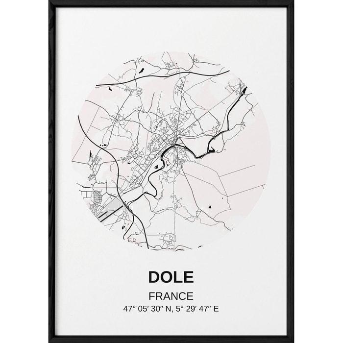 Affiche Carte Dole Blanc L Afficherie La Redoute