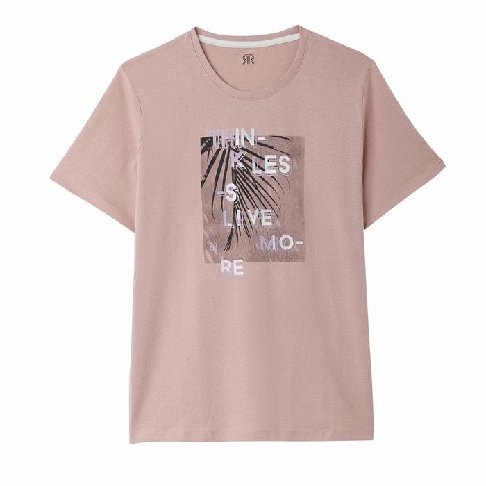 delante cuello Redoute Camiseta La redondo de con Collections motivo 7zT7wqB