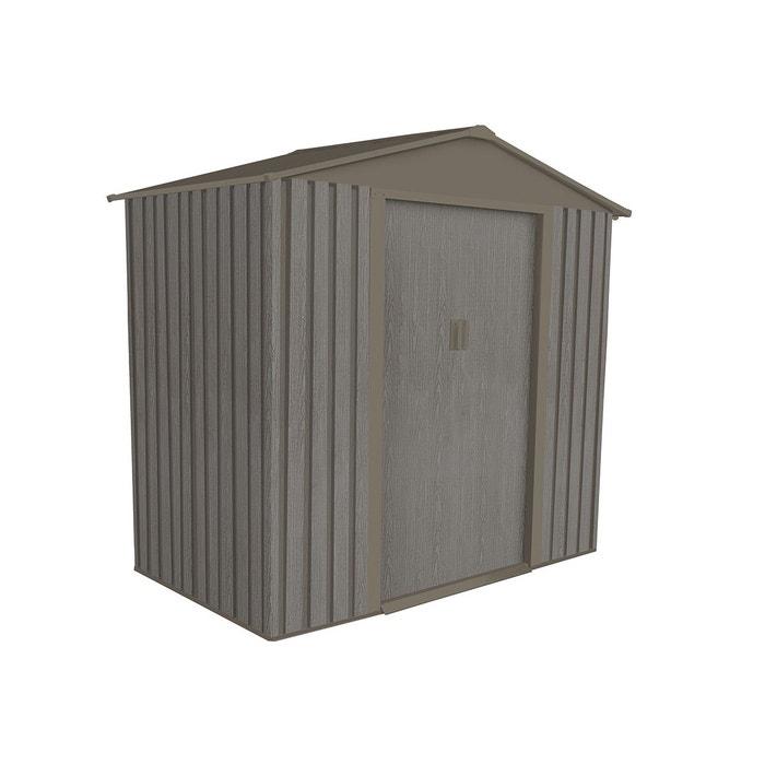 Abri de jardin métal aspect bois vieilli 64 - 2,43 m² - chalet et ...