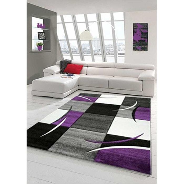 Tapis Design Et Modern Pour Le Salon Diamond 665 Violet Un Amour De Tapis |  La Redoute