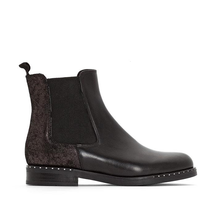 Boots cuir Chelsea Exclusivité La Redoute  JONAK image 0