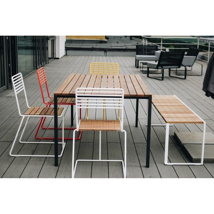 Salon de jardin table rectangulaire CORA banc BISTROT et 4 chaises TINA EGOE