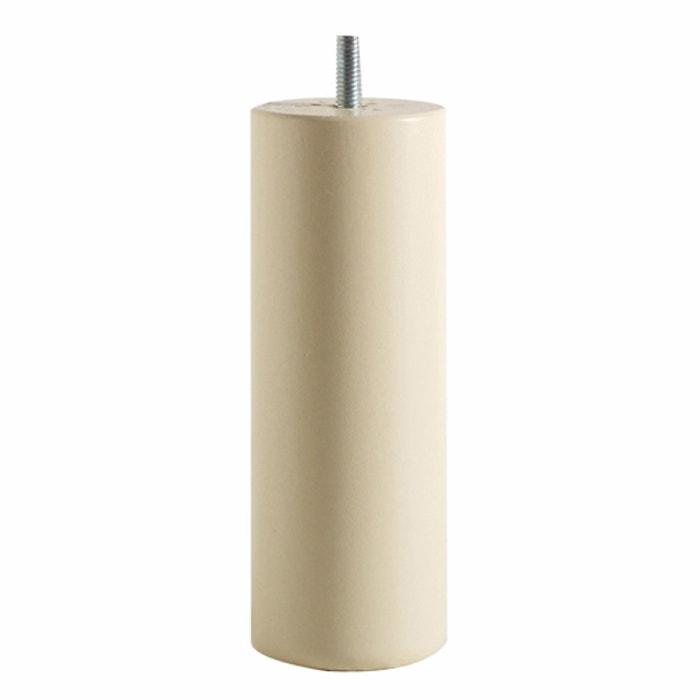 pieds de sommier forme cylindre haut 20 cm lot de 4 la. Black Bedroom Furniture Sets. Home Design Ideas