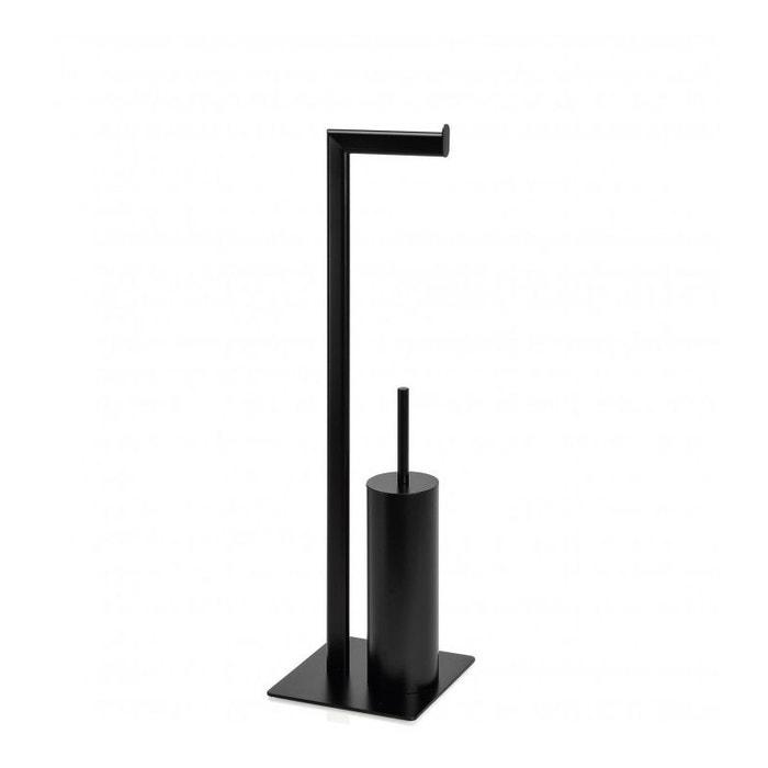 d rouleur papier toilette brosse wc en m tal noir mat noir wadiga la redoute. Black Bedroom Furniture Sets. Home Design Ideas